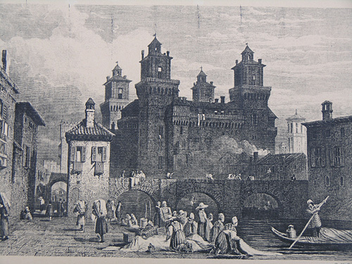 Ferrara Castle in the 18th century